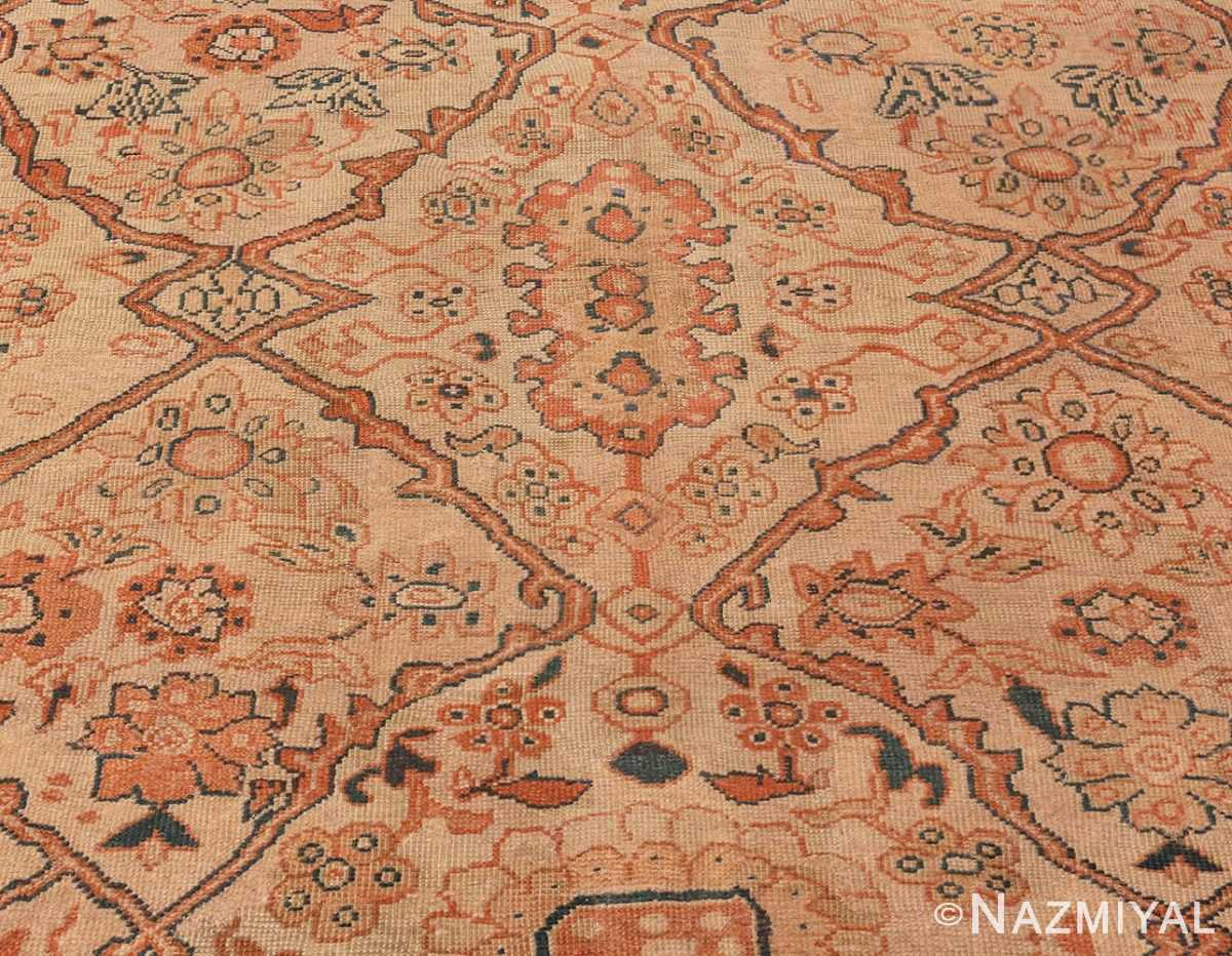 A picture from the center field of Antique Ivory Persian Sultanabad rug #50576 from Nazmiyal Antique Rugs in NYC