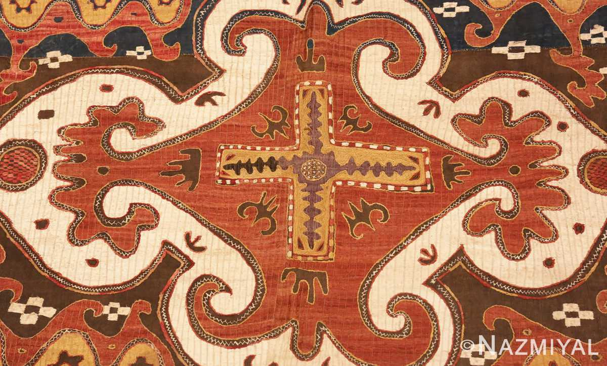 Picture of the center of Antique Kaitag Embroidery #49935 from Nazmiyal Antique Rugs in NYC