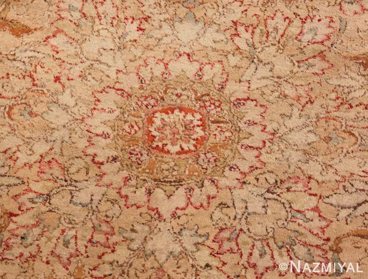 Picture of the Center of Large Antique Indian Agra Rug #48942 From Nazmiyal Antique Rugs In NYC