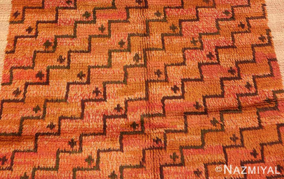Picture of the center of of the square vintage Scandinavian Swedish Rug #40294 from Nazmiyal Antique Rugs in NYC