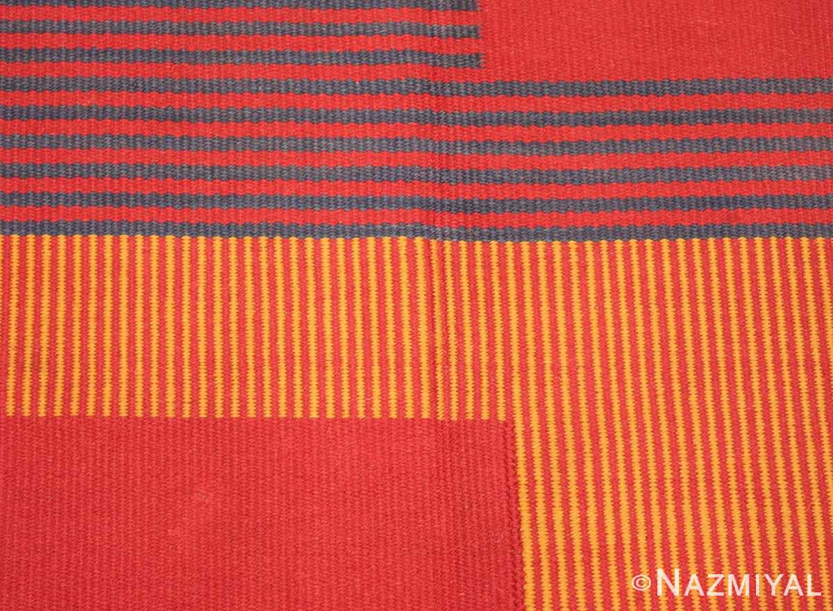 Picture of the Center of Vintage French Art Deco Kilim Rug #49930 From Nazmiyal Antique Rugs in NYC