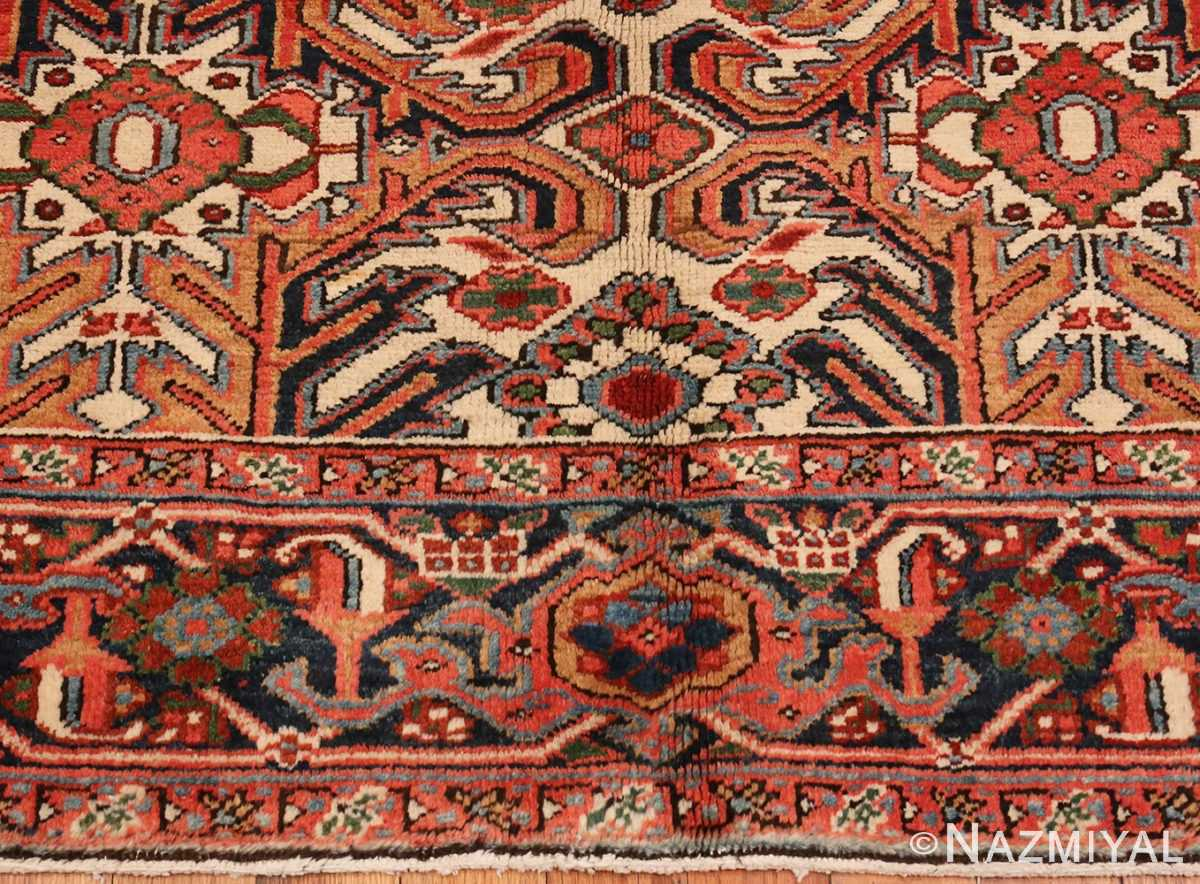 A Close up Picture of Antique Persian Heriz rug #47160 from Nazmiyal Antique Rugs in NYC