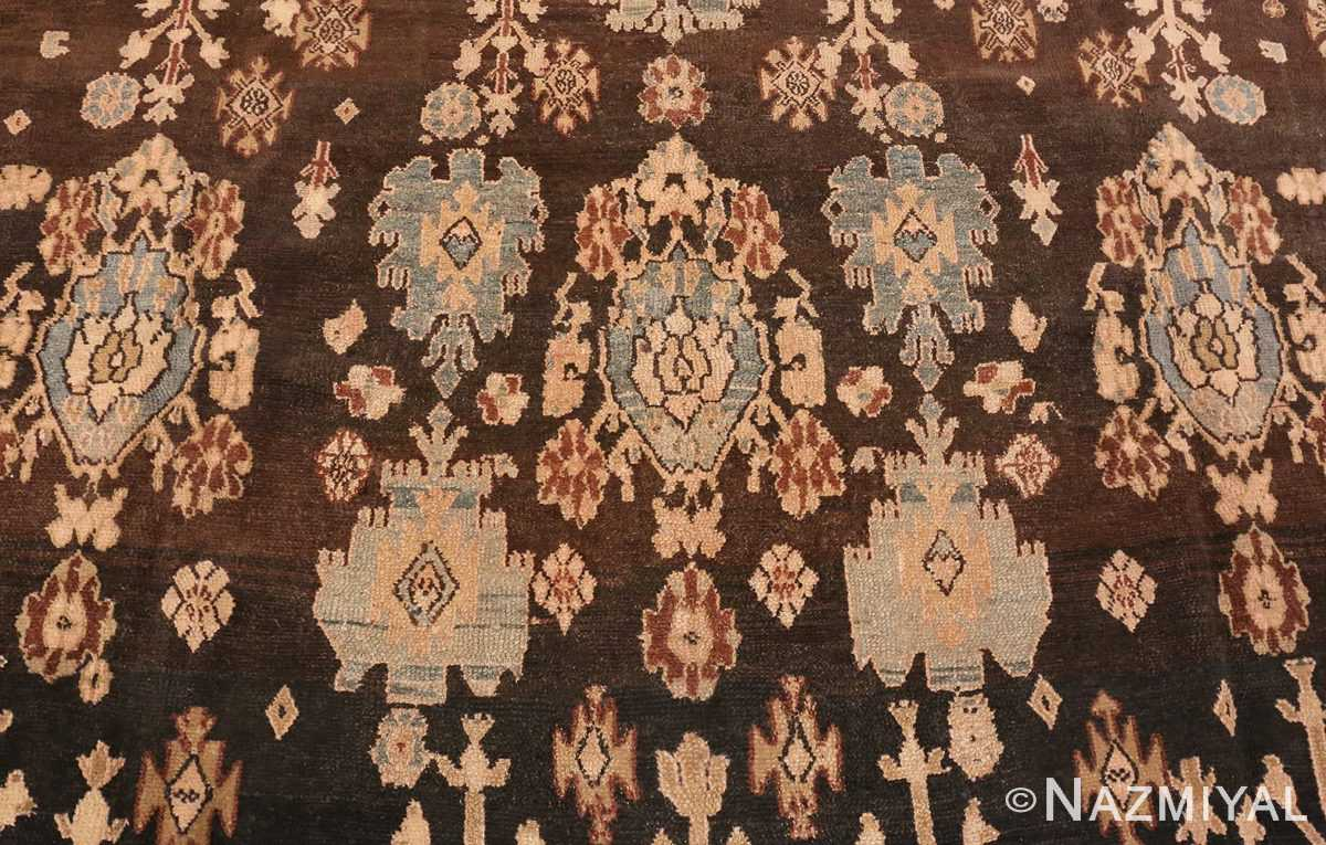Close Up Picture of Brown Antique Persian Malayer Rug #48939 from Nazmiyal Antique Rugs in NYC