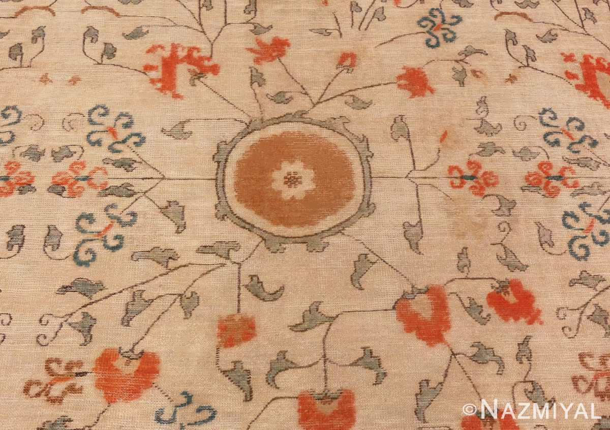 Close Up Picture of the Field of Large Oversized Antique Khotan Carpet #48219 From Nazmiyal Antique Rugs In NYC