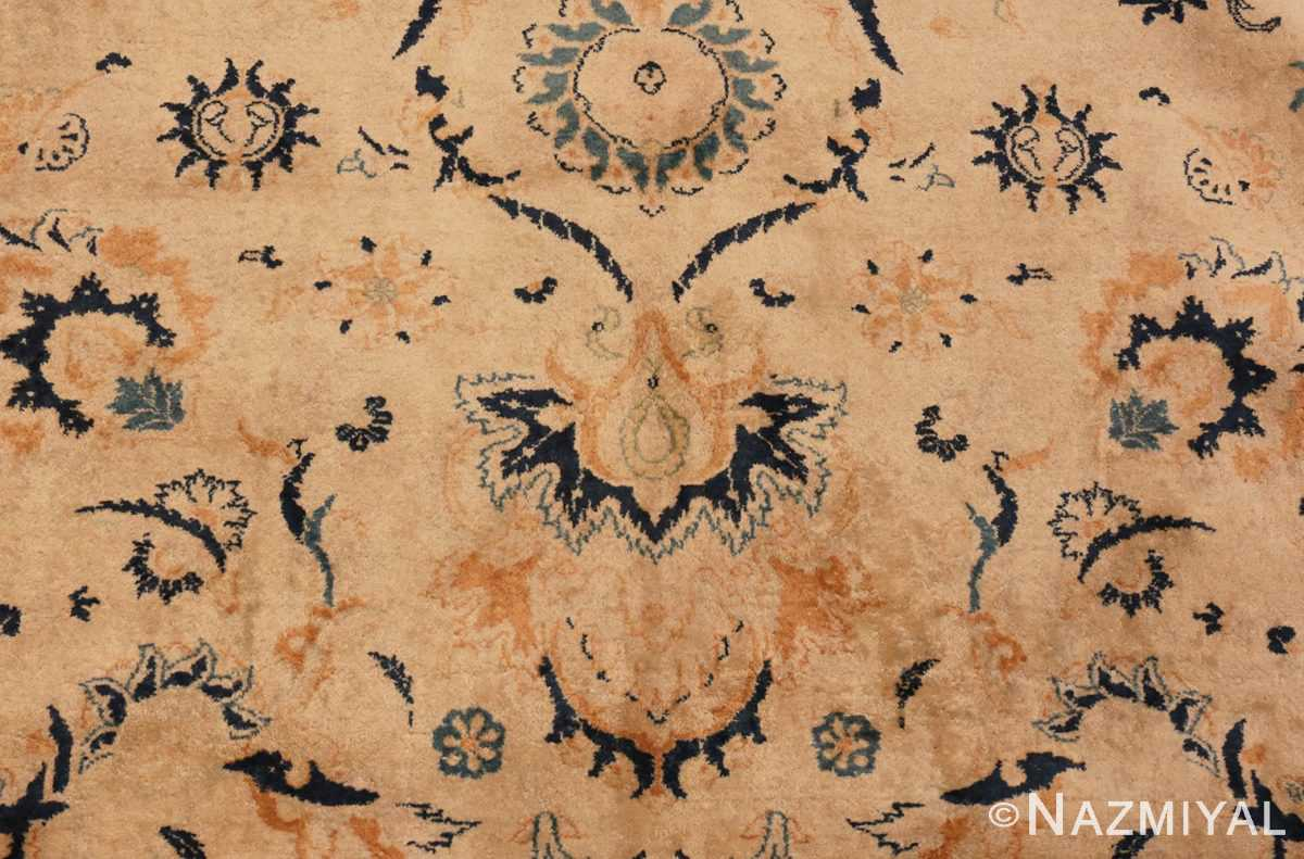 Close Up Picture of Antique Persian Kashan Carpet #50115 from Nazmiyal Antique Rugs in NYC