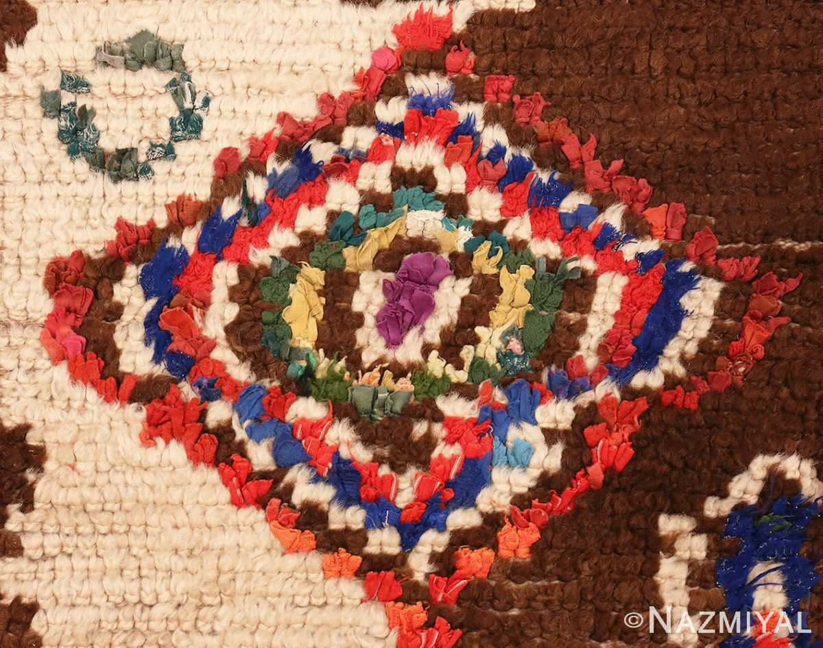 Close Up Picture of Vintage Mid Century Folk Art Moroccan Rug #46512 From Nazmiyal Antique Rugs In NYC