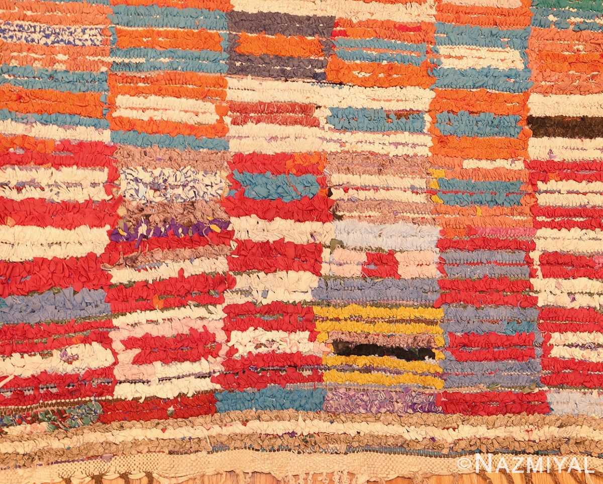 Picture of the Corner Of Vintage Moroccan Rag Rug #45728 From Nazmiyal Antique Rugs In NYC