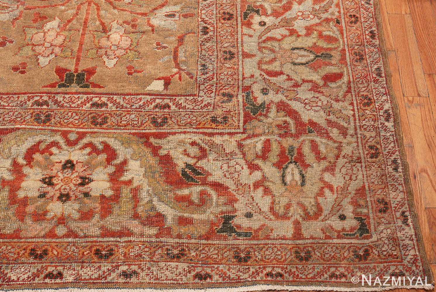 Picture of the Corner of Antique Persian Sultanabad Rug #48944 from Nazmiyal Antique Rugs in NYC