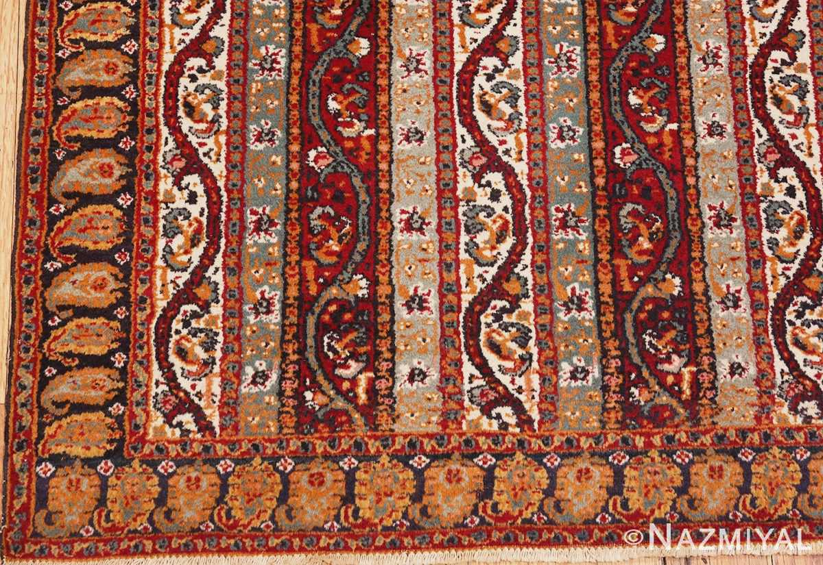 Picture of the Corner of Antique Persian Tabriz Rug #47309 From Nazmiyal Antique Rugs In NYC