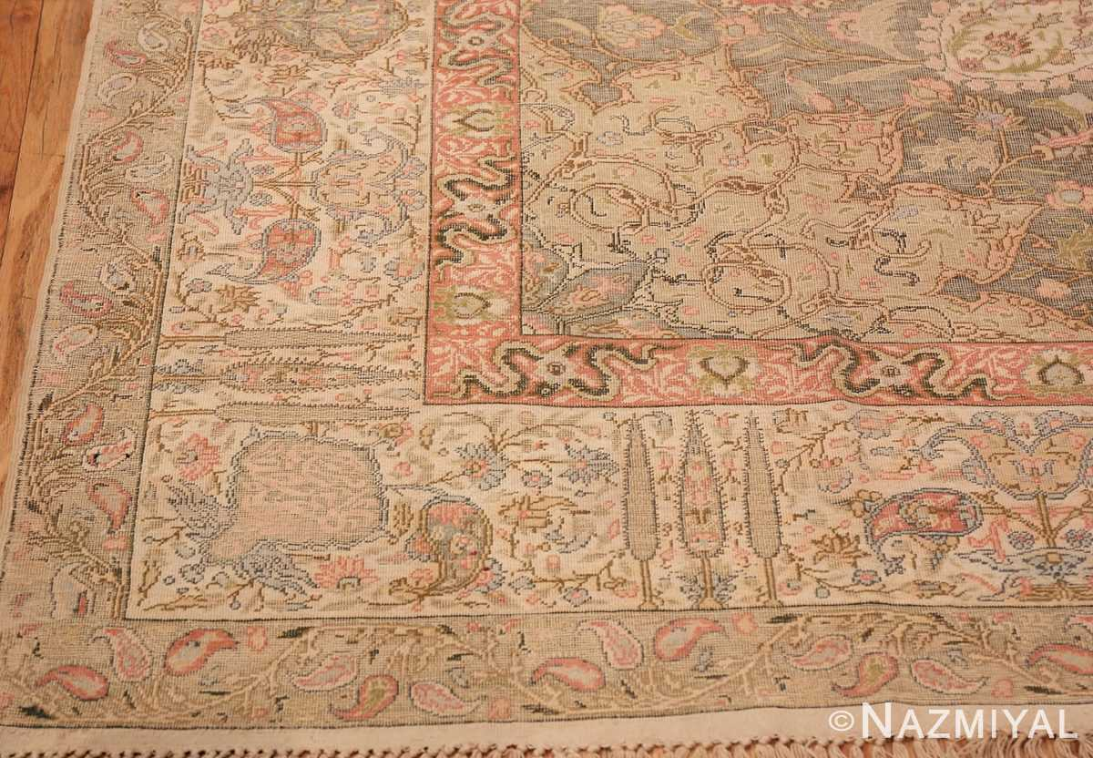 Picture of the Corner of Antique Silk Turkish Kayseri Shabby Chic Rug #48938 From Nazmiyal Antique Rugs In NYC