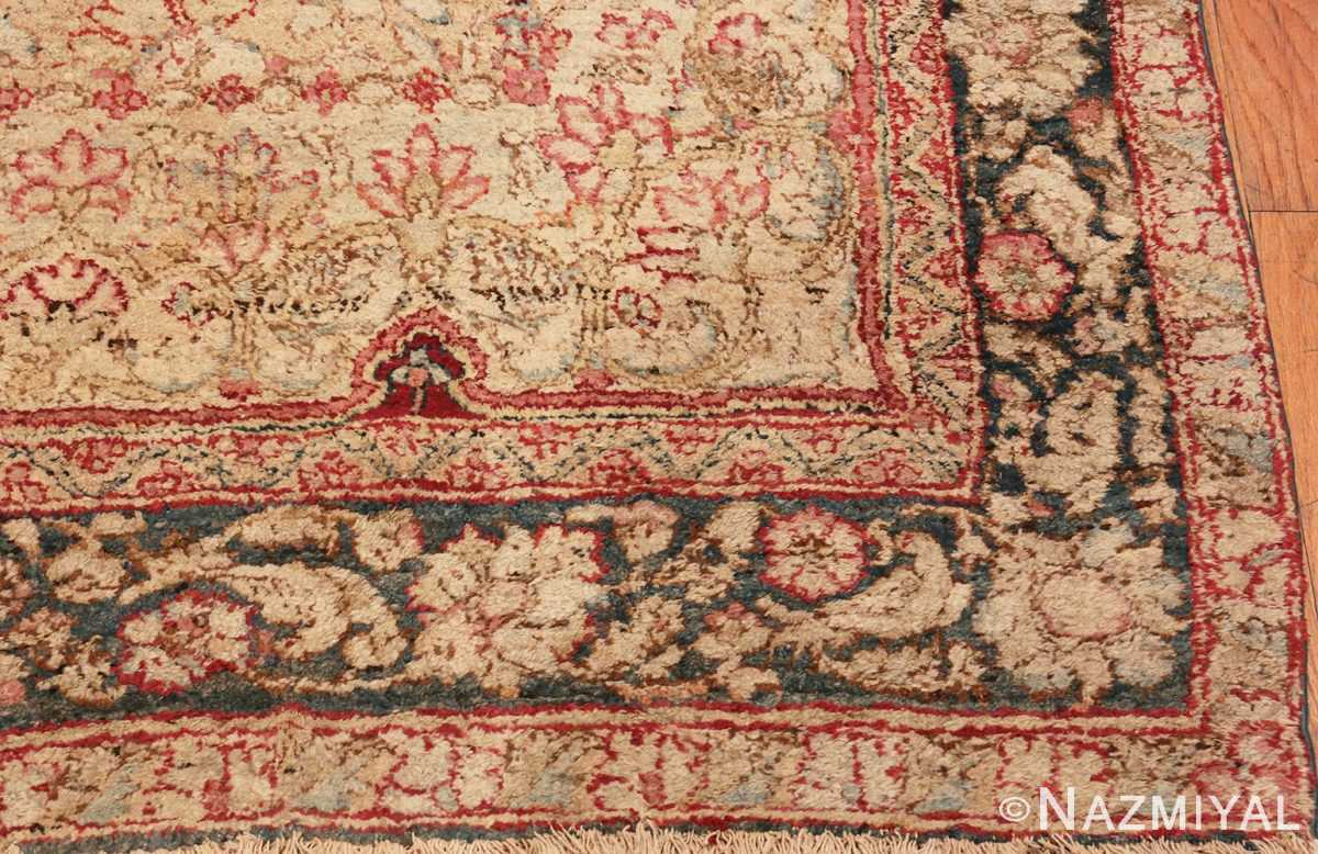Picture of the Corner of Large Antique Indian Agra Rug #48942 From Nazmiyal Antique Rugs In NYC