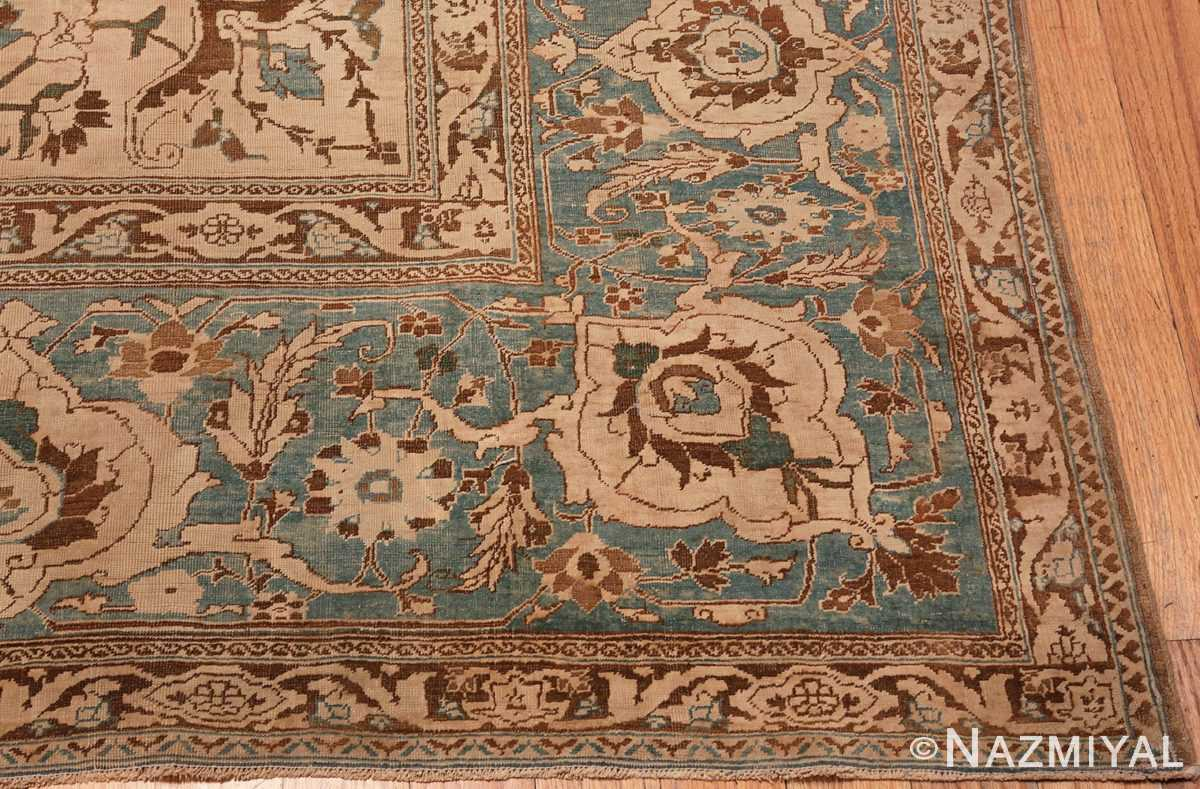 A picture of the corner of Large Antique Tabriz Persian Rug #48815 from Nazmiyal Antique Rugs in NYC