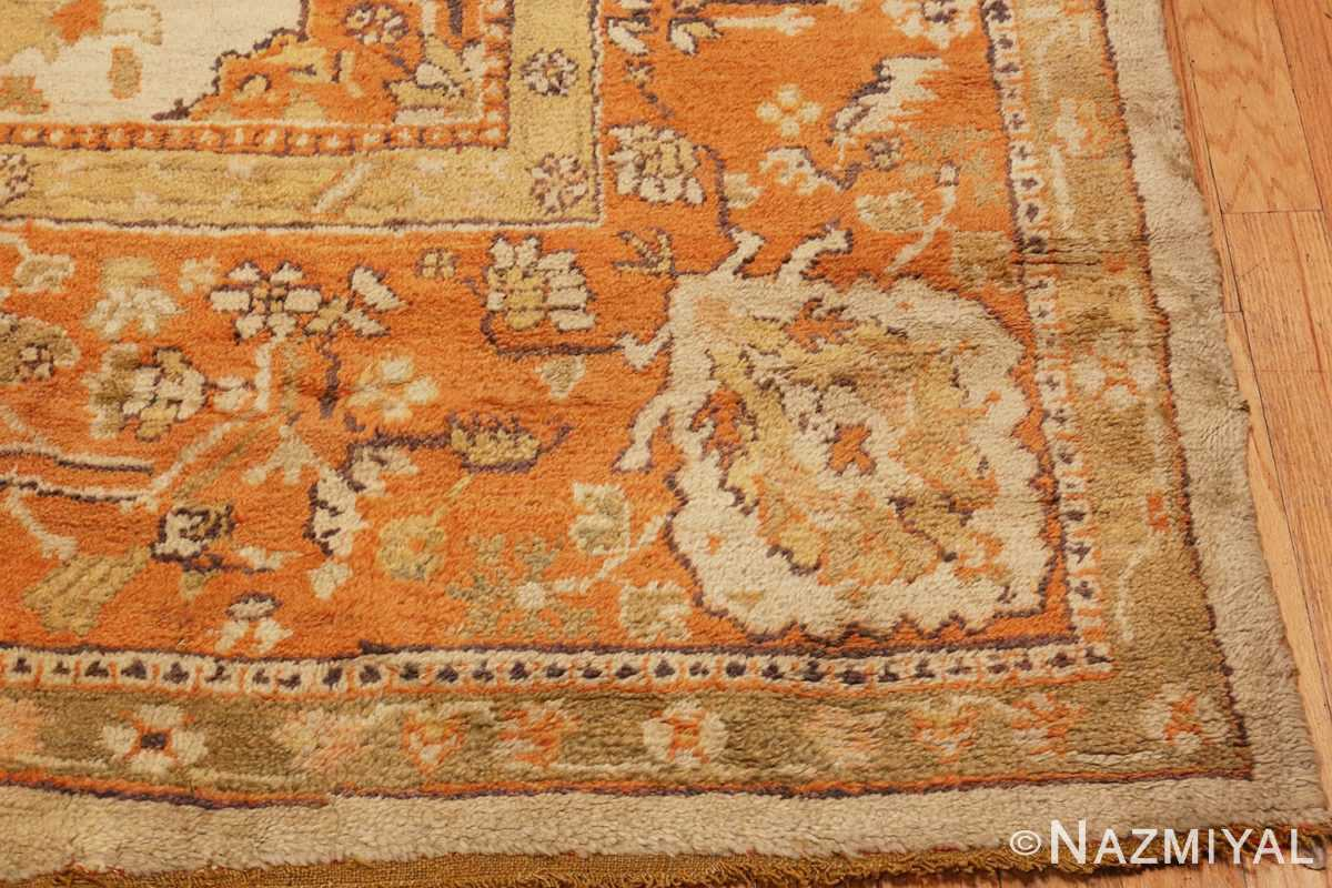 A Picture of the corner of Large Antique Turkish Oushak Rug #50674 from Nazmiyal Antique Rugs in NYC