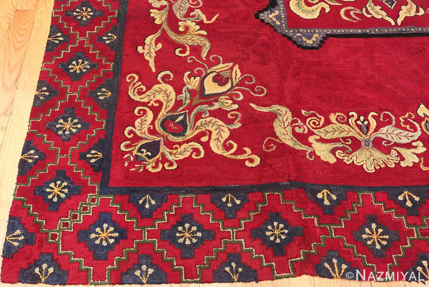 Red Antique American Hooked Rug 70059