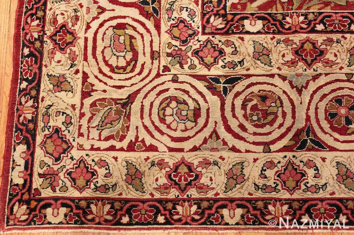 Picture of the corner of Room Size Antique Persian Kerman Carpet #49900 From Nazmiyal Antique Rugs in NYC