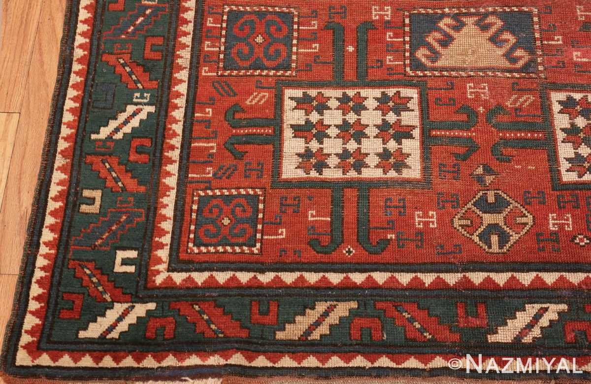 Picture of the Corner of Tribal Antique Caucasian Karachopf Rug #70049 From Nazmiyal Antique Rugs In NYC