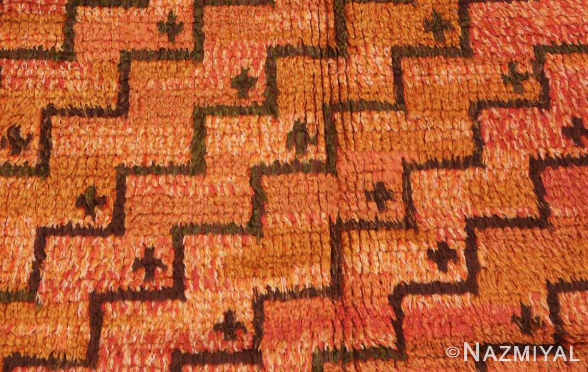 Close Up Picture of The Design Of of the square vintage Scandinavian Swedish Rug #40294 from Nazmiyal Antique Rugs in NYC