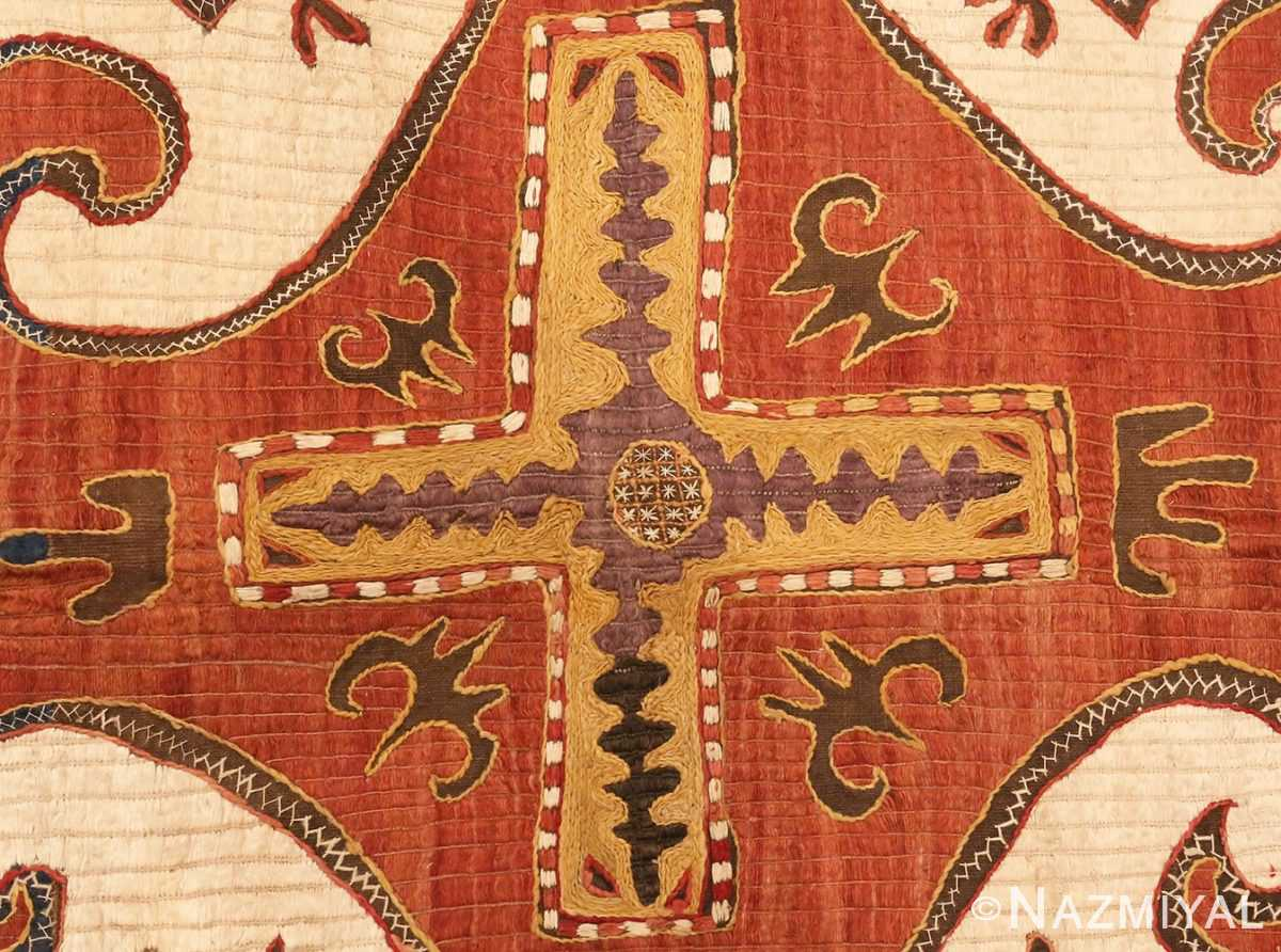 Detailed picture of Antique Kaitag Embroidery #49935 from Nazmiyal Antique Rugs in NYC