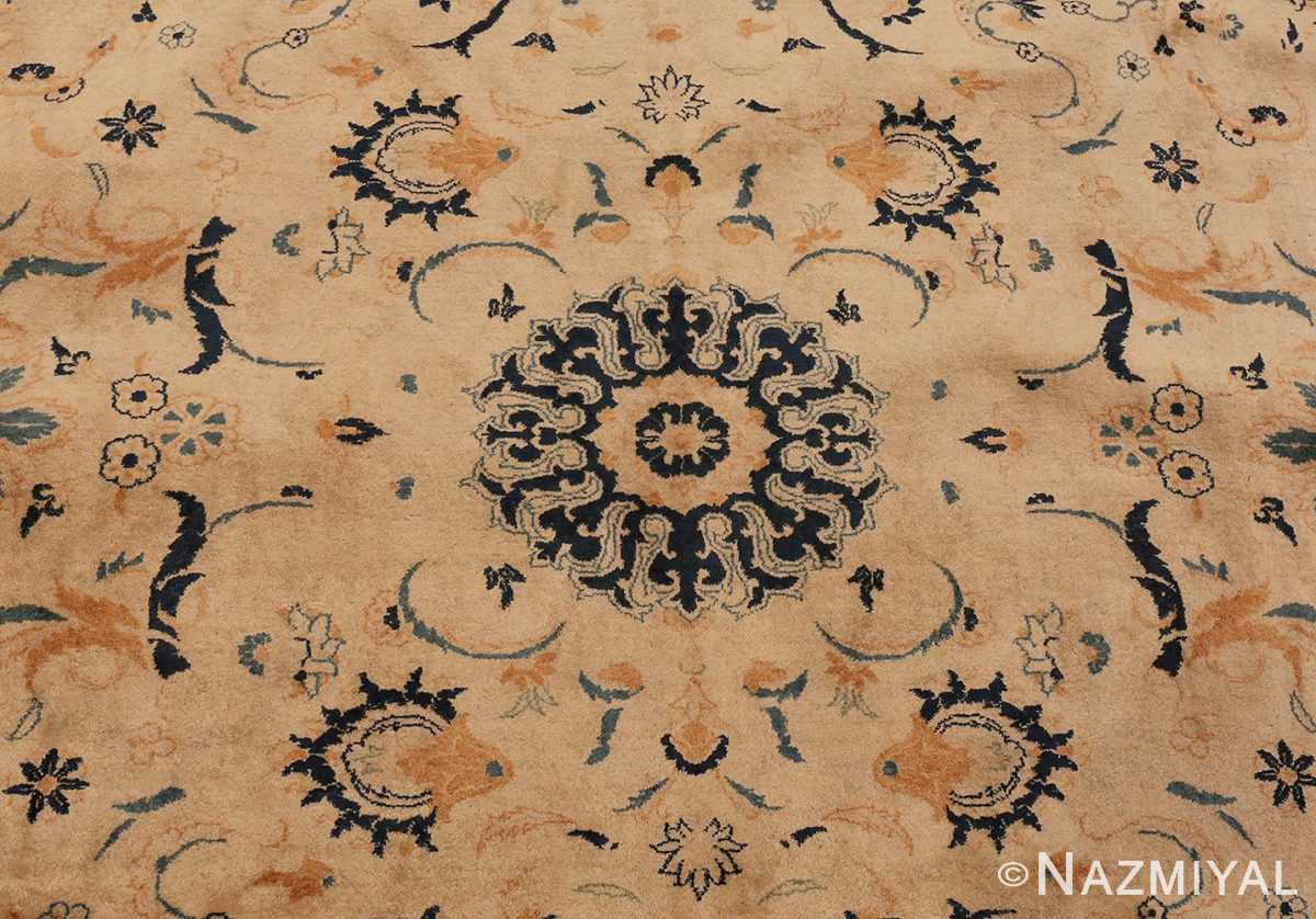 Detailed Image Of Antique Persian Kashan Carpet #50115 from Nazmiyal Antique Rugs in NYC