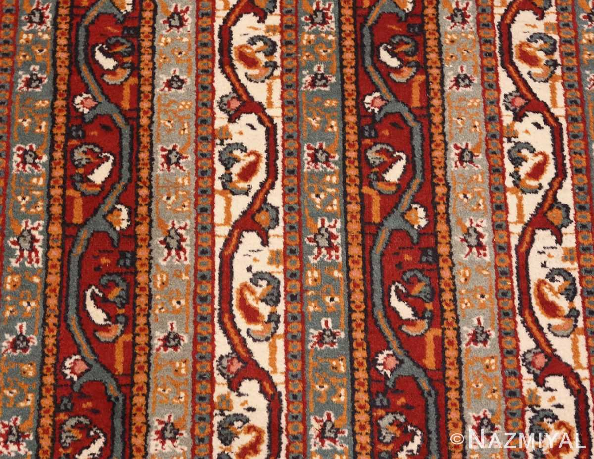Detailed Picture of Antique Persian Tabriz Rug #47309 From Nazmiyal Antique Rugs In NYC