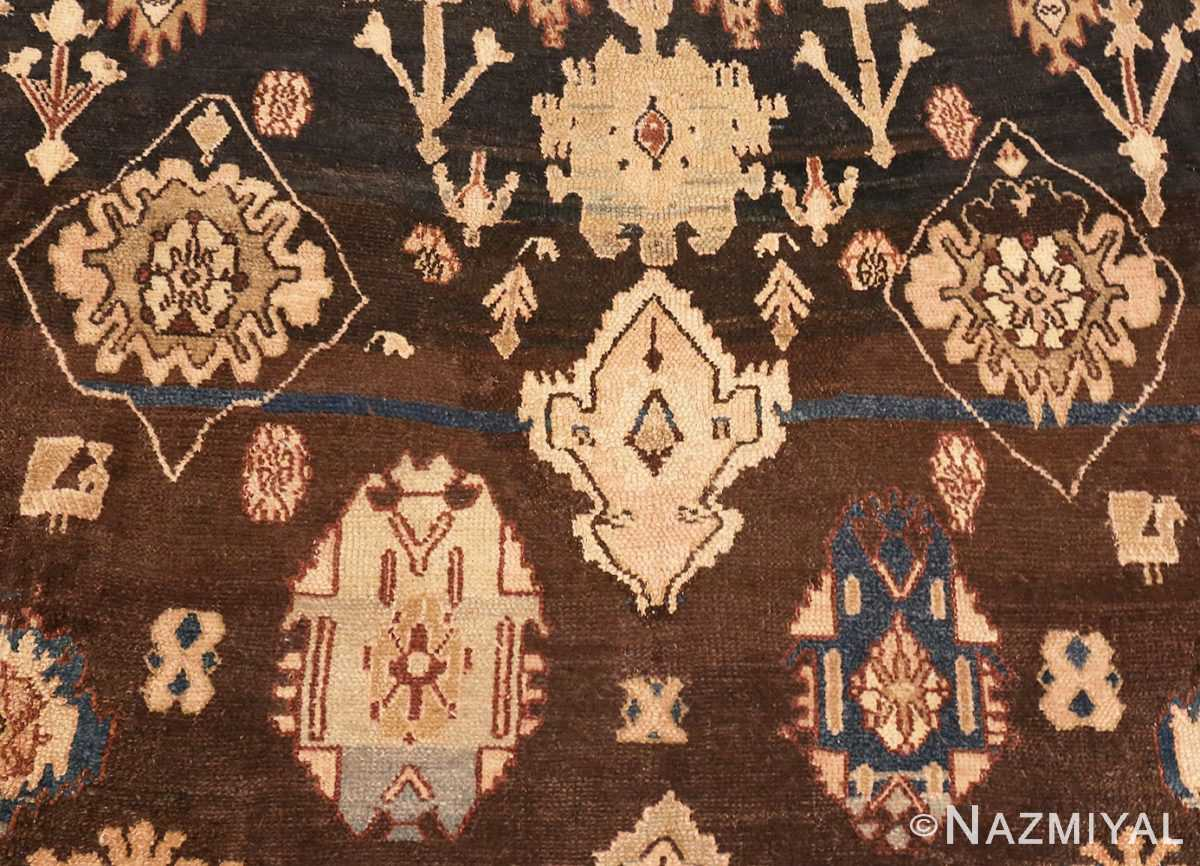 A Detailed Picture of Brown Antique Persian Malayer Rug #48939 from Nazmiyal Antique Rugs in NYC