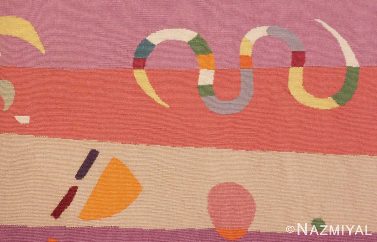 Detailed Picture of French Bauhaus Wassily Kandinsky Tapestry 41278 From Nazmiyal Antique Rugs in NYC