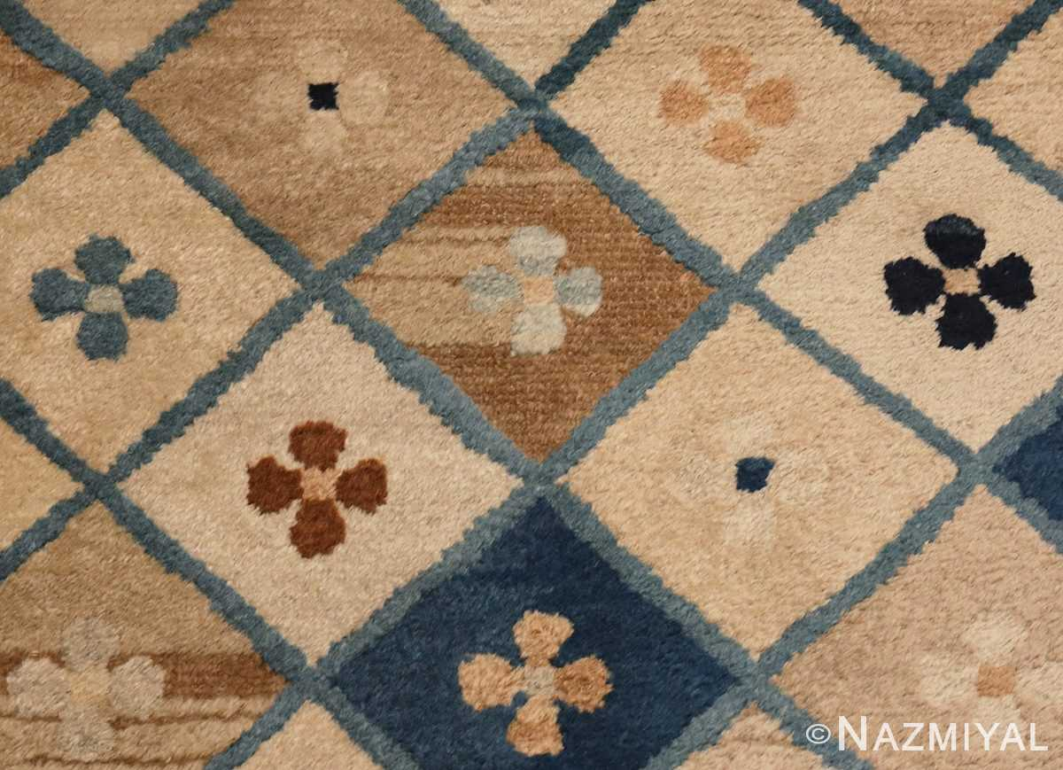 Detailed Picture of Small Antique Chinese Rug #46320 From Nazmiyal Antique Rugs In NYC