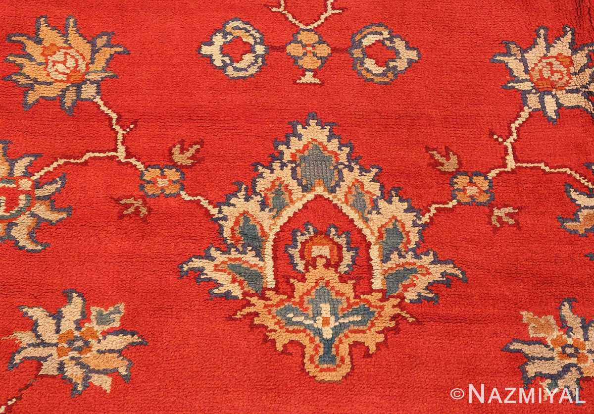 Detailed Picture of Square Size Antique Irish Donegal Rug #3328 From Nazmiyal Antique Rugs In NYC
