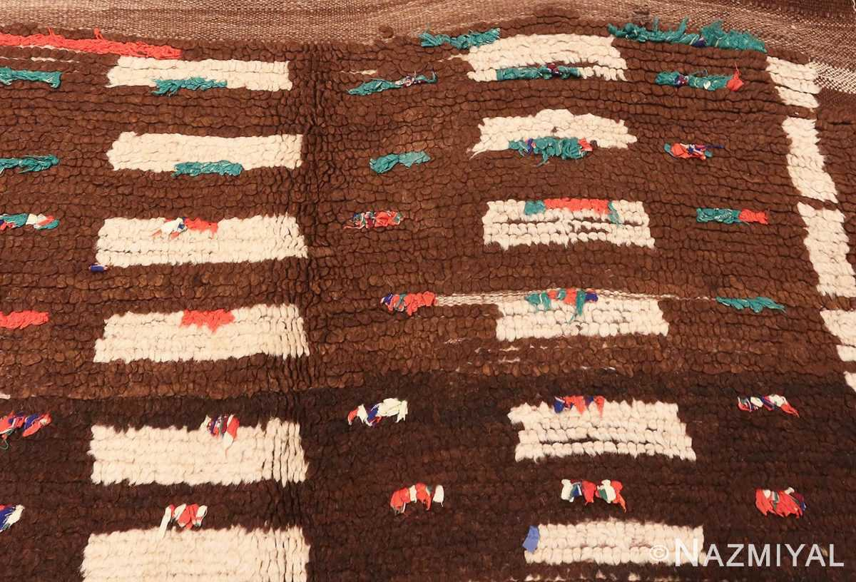Detailed Picture of Vintage Mid Century Moroccan Berber Rug #46441 From Nazmiyal Antique Rugs In NYC