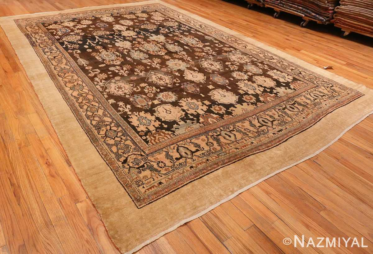 A Full Picture from The Side Brown Antique Persian Malayer Rug #48939 from Nazmiyal Antique Rugs in NYC