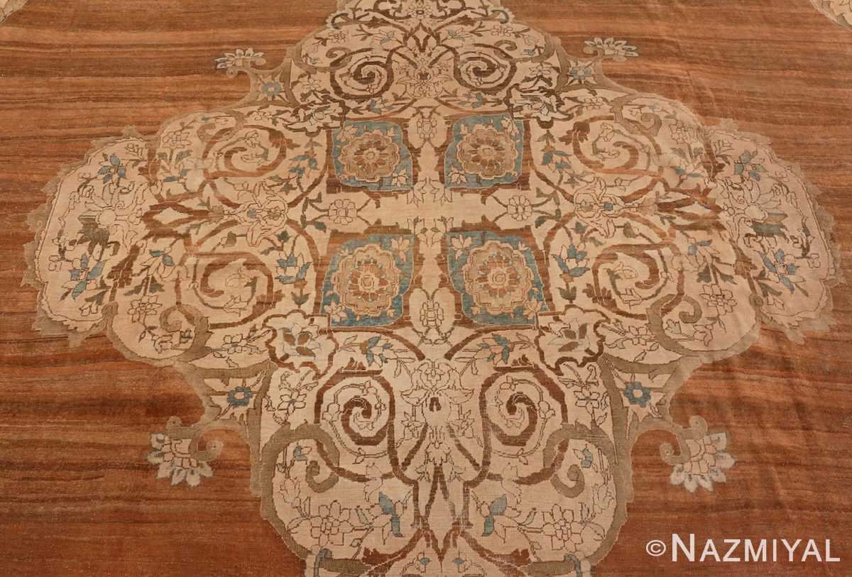 A picture of the central medallion of Large Antique Tabriz Persian Rug #48815 from Nazmiyal Antique Rugs in NYC