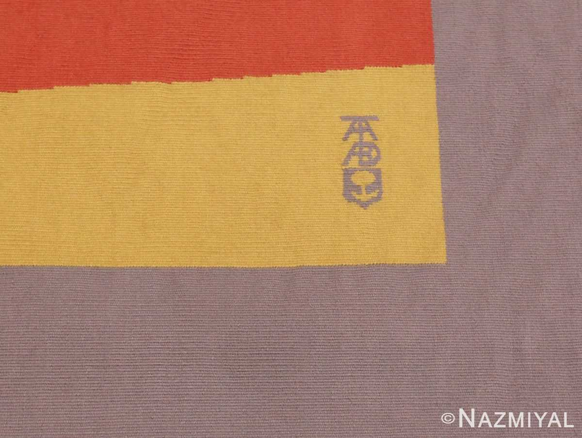 Picture of the Makers Mark Of French Bauhaus Wassily Kandinsky Tapestry 41278 From Nazmiyal Antique Rugs in NYC
