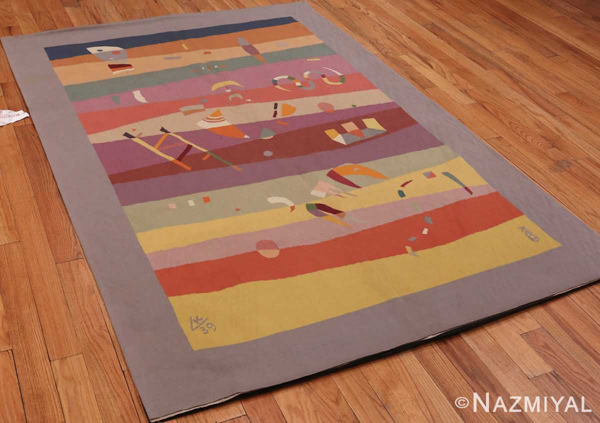 An Overall Picture of French Bauhaus Wassily Kandinsky Tapestry 41278 From Nazmiyal Antique Rugs in NYC