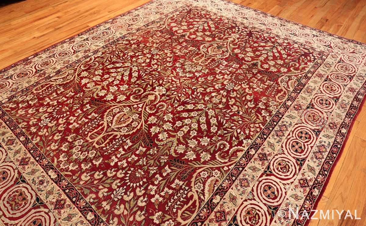 Overall Picture of Room Size Antique Persian Kerman Carpet #49900 From Nazmiyal Antique Rugs in NYC