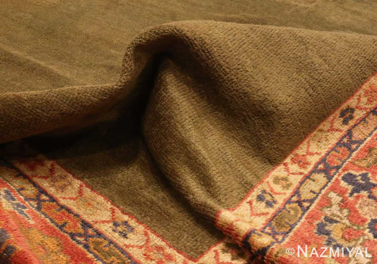 Picture of the Pile of Antique Green Persian Sultanabad Rug #50335 From Nazmiyal Antique Rugs In NYC