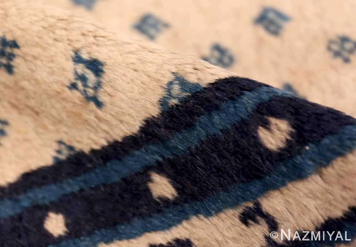 Pile Antique Ivory blue Peking Chinese runner rug 70060 by Nazmiyal