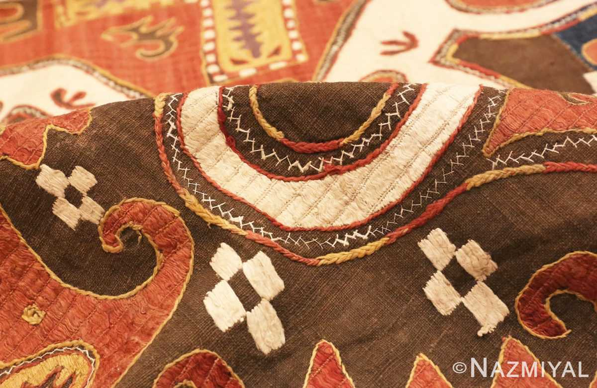 Picture of the Pile of Antique Kaitag Embroidery #49935 from Nazmiyal Antique Rugs in NYC