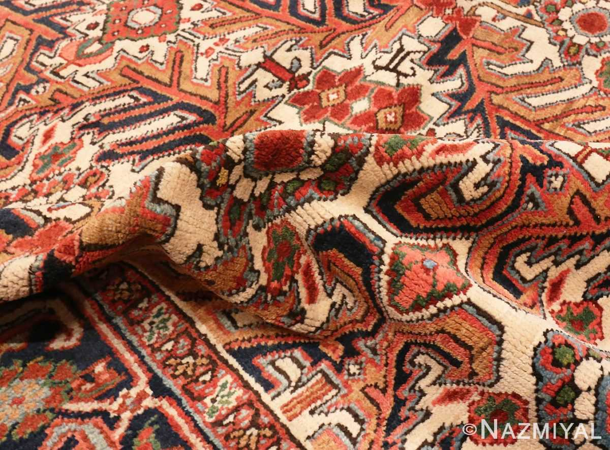 A picture of the pile Antique Persian Heriz rug #47160 from Nazmiyal Antique Rugs in NYC