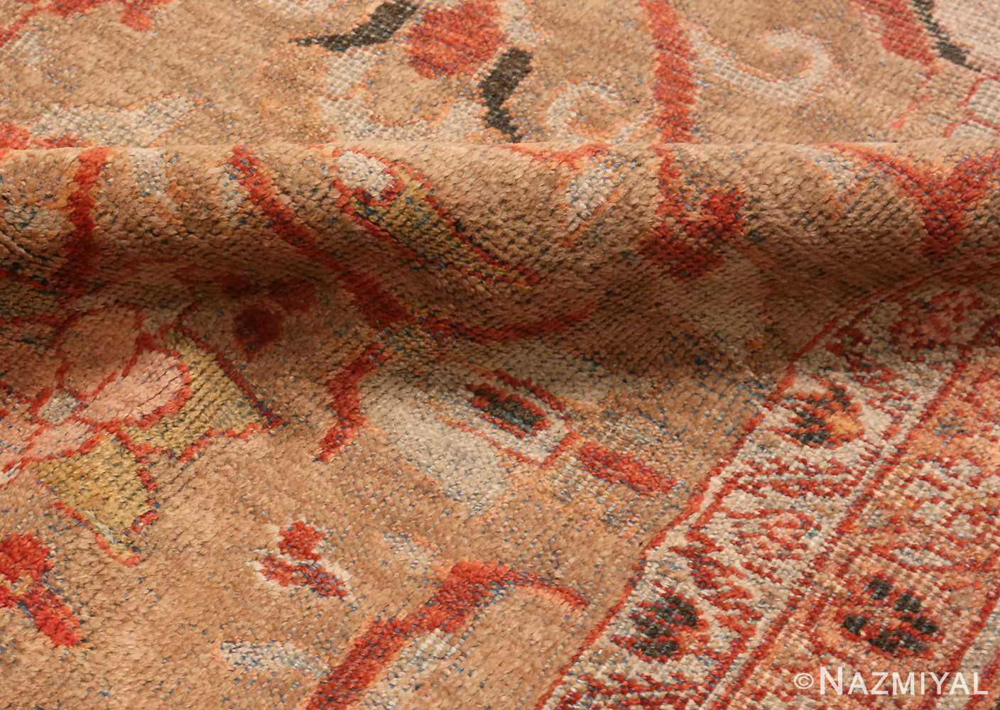 Picture of the wool The Pile Of Antique Persian Sultanabad Rug #48944 from Nazmiyal Antique Rugs in NYC