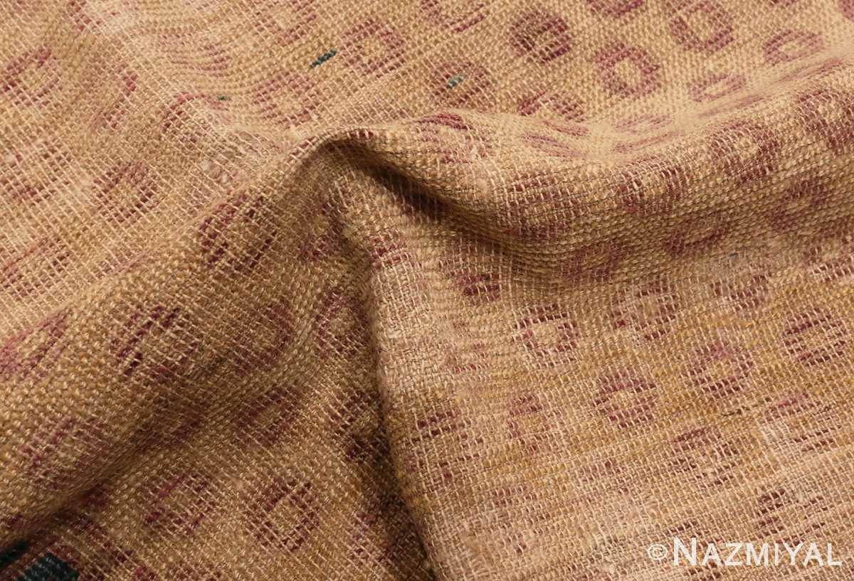 A picture of the pile Antique Shabby Chic Khotan Rug #49969 from Nazmiyal Antique Rugs in NYC