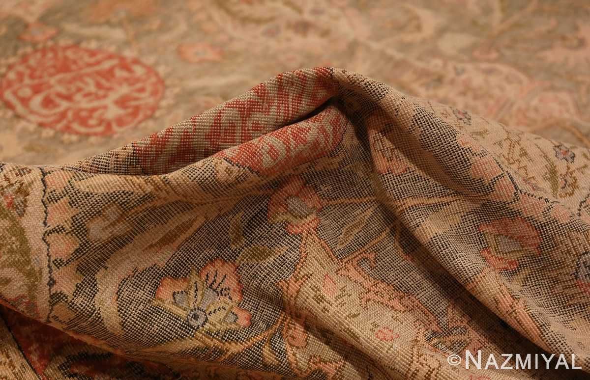 Picture of the Pile of Antique Silk Turkish Kayseri Shabby Chic Rug #48938 From Nazmiyal Antique Rugs In NYC