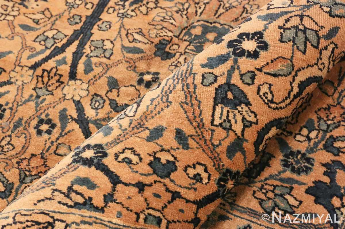 Picture of the Pile of Antique Tabriz Persian Rug #42055 From Nazmiyal Antique Rugs In NYC