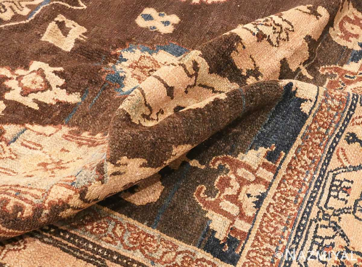 Picture of The Pile Of Brown Antique Persian Malayer Rug #48939 from Nazmiyal Antique Rugs in NYC