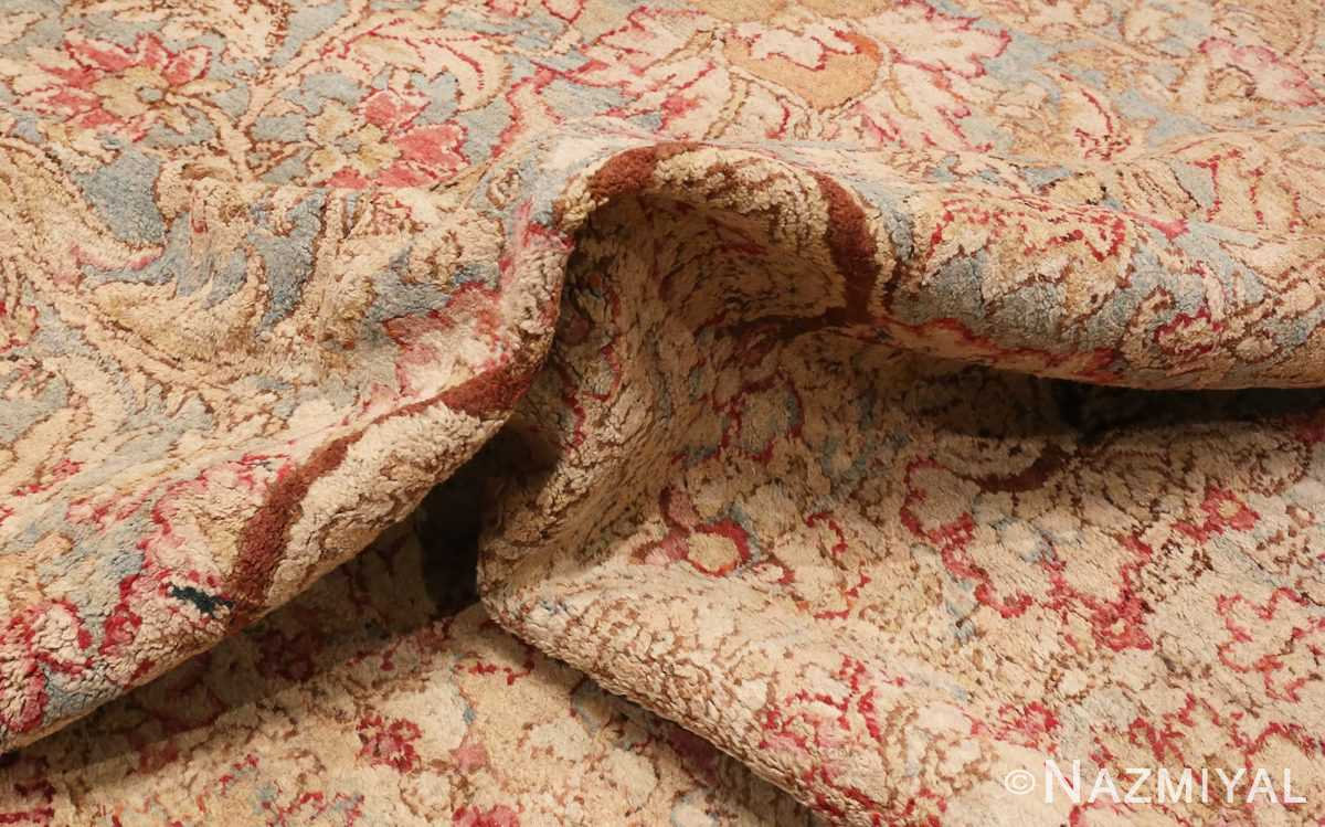 Picture of The Pile Of Large Antique Indian Agra Rug #48942 From Nazmiyal Antique Rugs In NYC