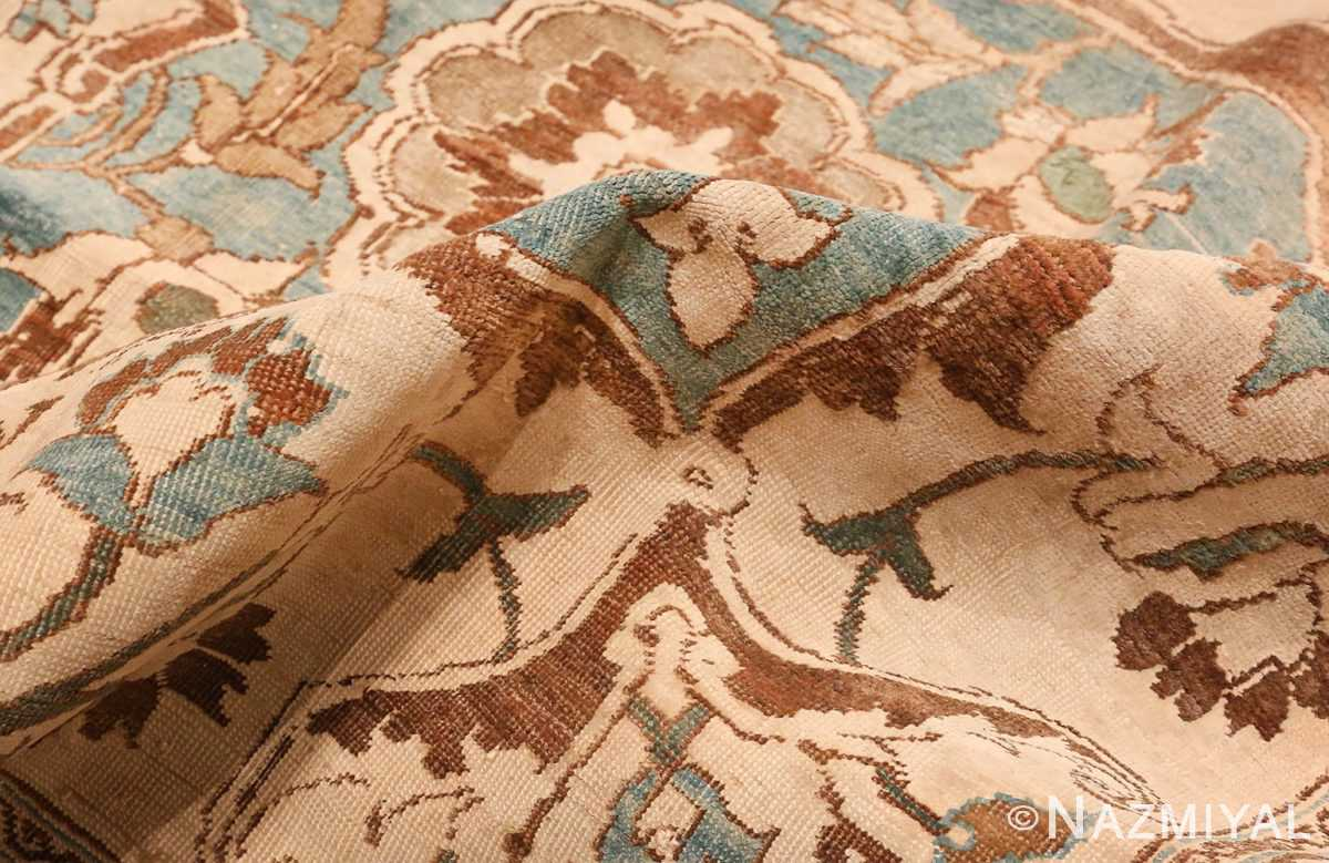A picture of the pile of Large Antique Tabriz Persian Rug #48815 from Nazmiyal Antique Rugs in NYC