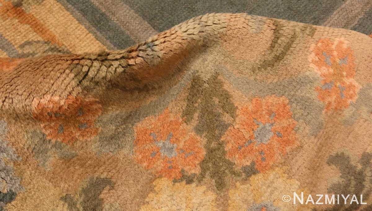 Picture of the Pile of Antique Spanish Savonnerie Carpet #49845 from Nazmiyal Antique Rugs in NYC
