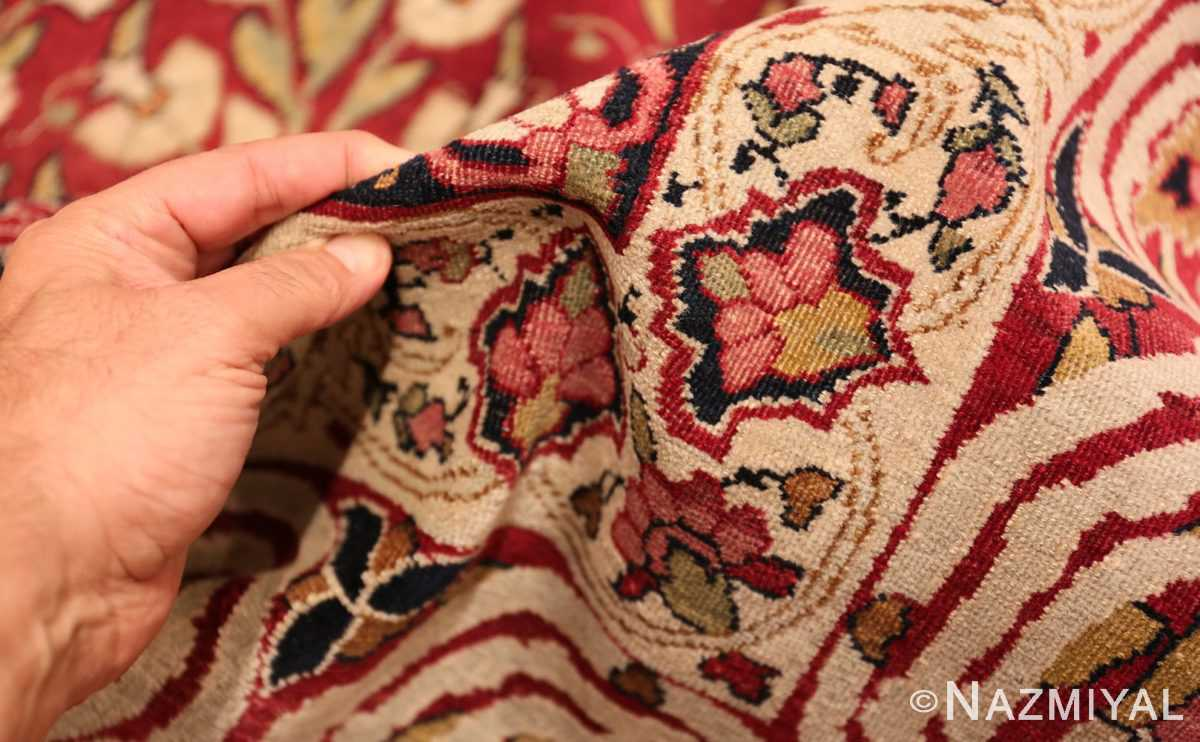 Picture of the pile of Room Size Antique Persian Kerman Carpet #49900 From Nazmiyal Antique Rugs in NYC