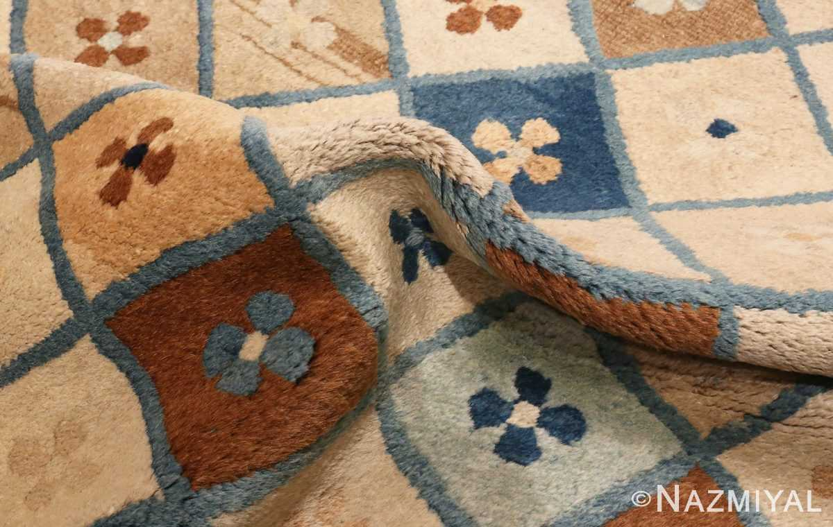 Picture of the Pile Of Small Antique Chinese Rug #46320 From Nazmiyal Antique Rugs In NYC