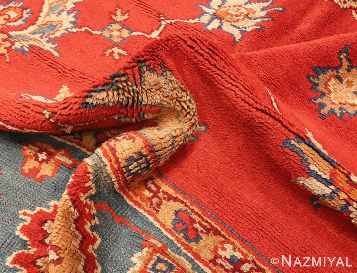 Picture of the Pile of Square Size Antique Irish Donegal Rug #3328 From Nazmiyal Antique Rugs In NYC