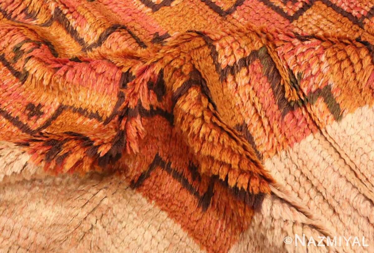 Picture of the wool pile of the square vintage Scandinavian Swedish Rug #40294 from Nazmiyal Antique Rugs in NYC